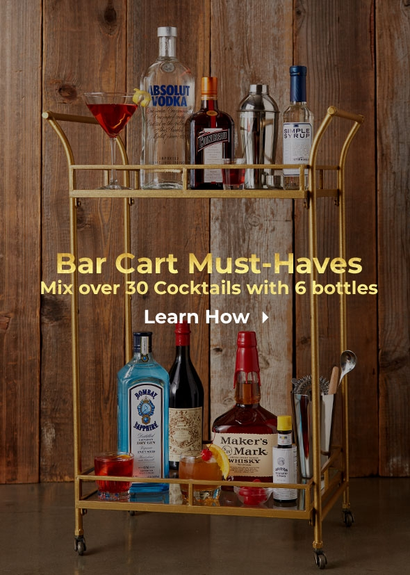 Bar Cart Must-Haves