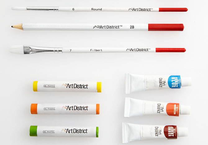 The Art District pencils, paint and pastels