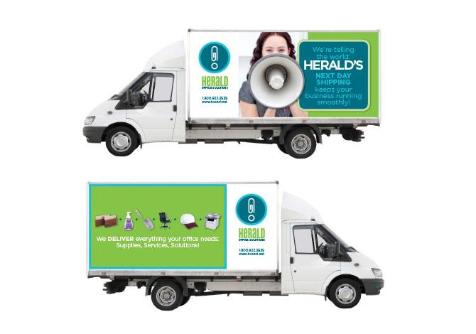 Herald truck wrap