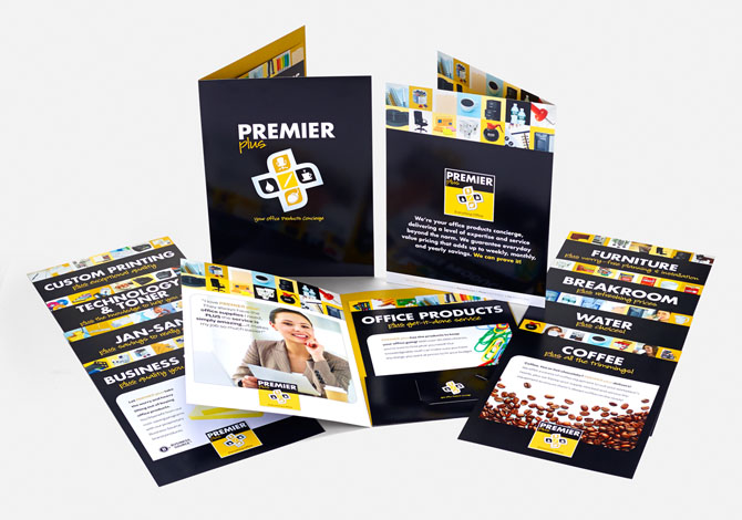Premier branded brochures and flyers