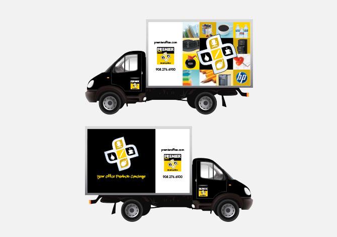 Premier branded truck wraps