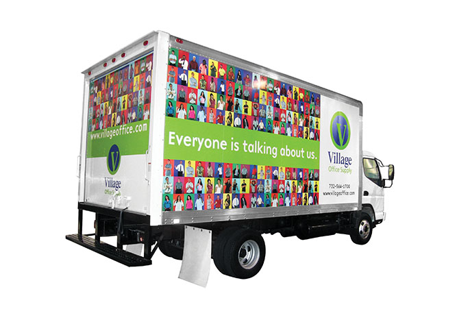 Village Office Supply truck wrap
